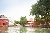 foto of malacca  - Malacca city with house near river under blue sky Malaysia