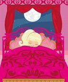 Girl Sleeping In His Bedroom