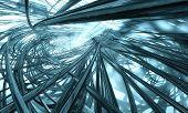 Deep blue technology background