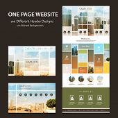 foto of differences  - One Page Website Template and Different Header Designs with Blurred Backgrounds  - JPG
