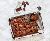 picture of brownie  - chocolate brownie - JPG
