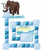 stock photo of mammoth  - boardgame with a mammoth and iceberg - JPG