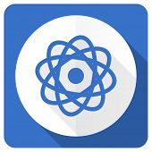 picture of atomizer  - atom blue flat icon   - JPG