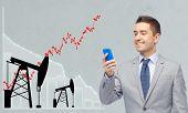 stock photo of oil derrick  - oil business - JPG