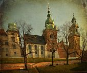 Beautiful Polish Architecture From Krakow City Poland poster