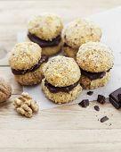 stock photo of cookie  - Crescent Cookies  - JPG