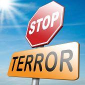 picture of terrorism  - stop the terror stop violence terrorism and war - JPG