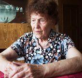 image of sorrow  - Old woman - JPG