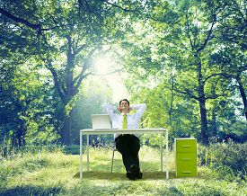 pic of nature conservation  - Relaxing Business Working Outdoor Green Nature Concept - JPG