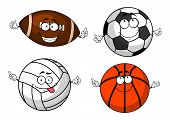 image of volleyball  - Colorful football or soccer - JPG