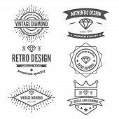 stock photo of vintage jewelry  - Vintage logo - JPG