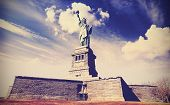 picture of statue liberty  - Vintage filtered photo of the Statue of Liberty in New York City USA - JPG