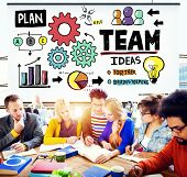 image of collaboration  - Teamwork Team Collaboration Connection Togetherness Unity Concept - JPG