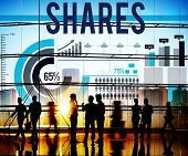stock photo of asset  - Shares Shareholder Corporate Contribution Asset Concept - JPG