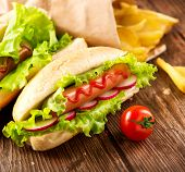 picture of hot dog  - Hot dog - JPG