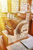 pic of cash register  - Vintage cash register in an old pharmacy - JPG