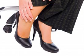 picture of hurt  - Hurting feet while wearing high heels all day - JPG