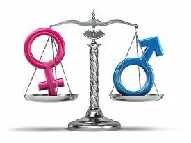 stock photo of gender  - Gender equality concept - JPG