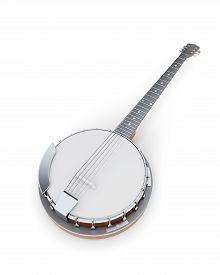 picture of banjo  - Banjo on a white - JPG