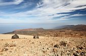 Tenerife - view from Teide and Montana Blanca within the national park of Teide on Tenerife. A  few