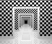 Long corridor. Checker edition.