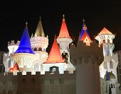 A view behind the walls of the Excalibur Hotel