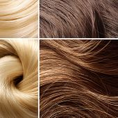 lang blond haar collage