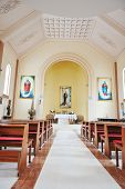 foto of church interior  - Modern church inside - JPG