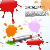 vector holi splashes vector background