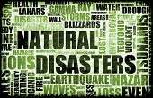 Natural Disasters Grunge as a Art Background