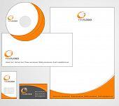 Letterhead Template design - vector poster
