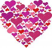 padrão de coração