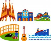 Barcelona - touristic landmarks and attractions