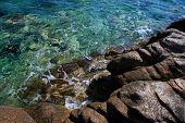 seashore with rocks