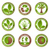 Glossy Ecology Labels