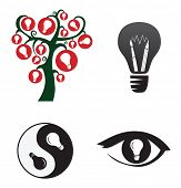 Symbols of creativity and ideas