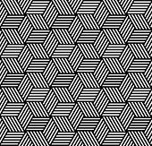 Naadloze geometrische patroon in op-art design. Vector kunst.