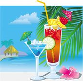 picture of cold drink  - Cocktails near the swimming pool - JPG