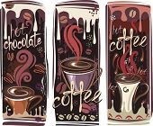 Banners with coffee