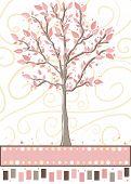 Árvore - cartão-de-rosa bonito