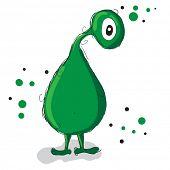 Cute little green monster