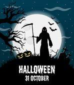 Happy Halloween Vector Poster, Halloween Banner, Halloween Background, Halloween Party, Vector Illus poster