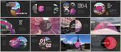 Minimal Presentations Design, Portfolio Vector Templates With Circle Elements On Black Background. M poster