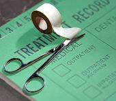 Medical Treatment Record and First Aid Tape