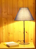 pic of goodnight  - Bedtime stories scene with lamp nught table and book - JPG
