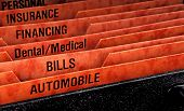 foto of keepsake  - Filing folders for recording expenses featuring automobile slot - JPG