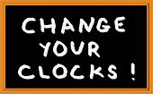 reminder to change the clock