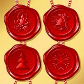 Set of Christmas sealing wax