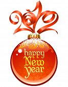 image of new years celebration  - Christmas and New Year circle frame - JPG