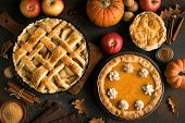 Thanksgiving Pumpkin And Apple Pies poster